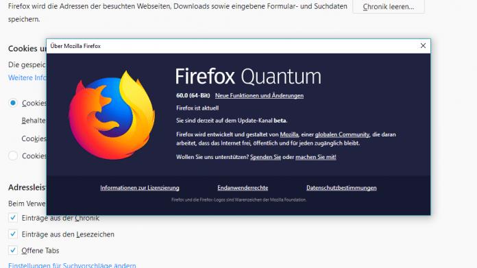 Firefox 60 mit Enterprise-Engine und Langzeit-Support