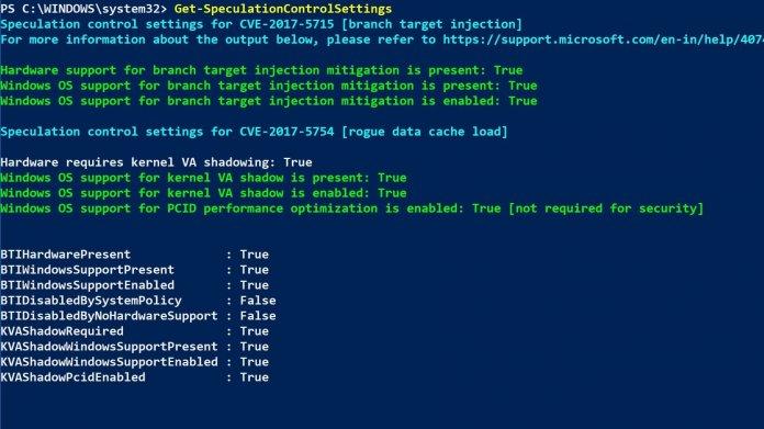 CPU-Lücke Spectre V2: Microcode-Updates jetzt unter Windows 10 1803