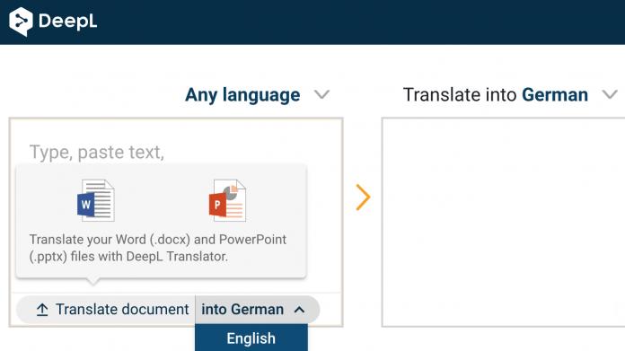 DeepL übersetzt Word-Dokumente und PowerPoint-Präsentationen