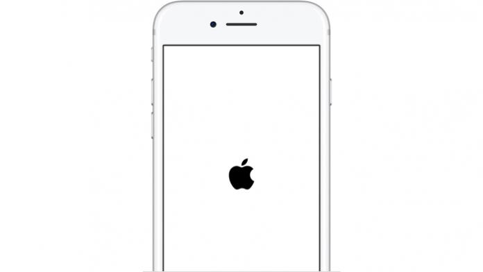 Ein neu startendes iPhone.
