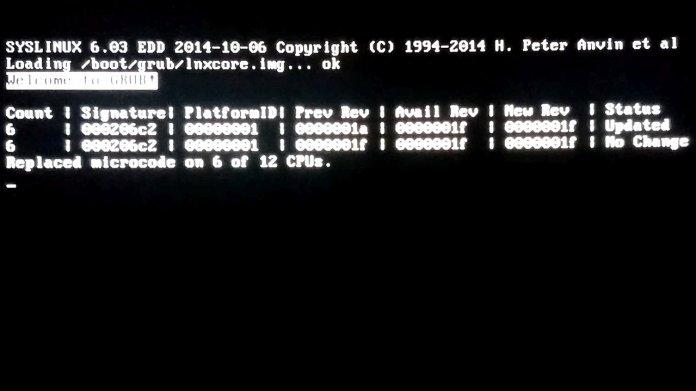 Der Intel Microcode Boot Loader lädt Microcode-Updates