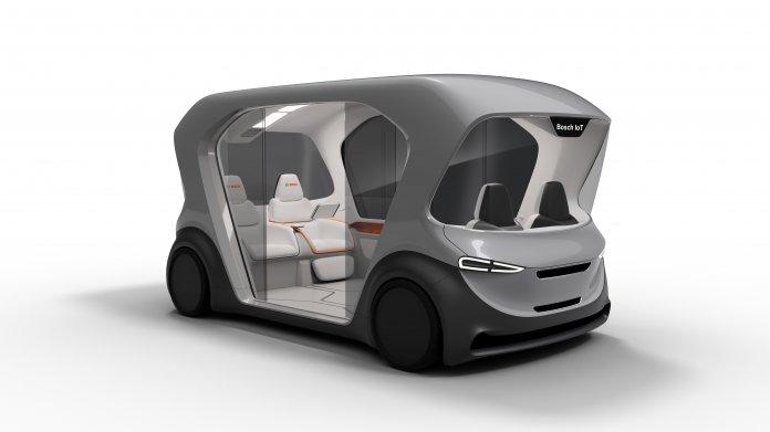 Bosch entwickelt autonomen Elektro-Shuttle