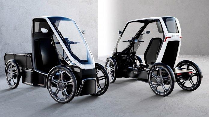 Schaeffler Bio-Hybrid: Das Fahrrad mit Dach und vier Rädern