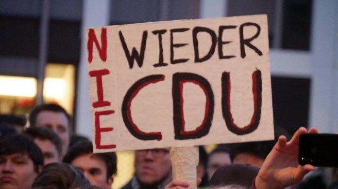 """Spontandemos gegen Artikel 13 und Abstimmungs-Vorverlegung: """"Nie mehr CDU"""""""