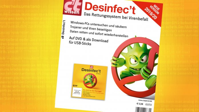 Ab sofort am Kiosk: Sonderheft c't Wissen Desinfec't 2019/20