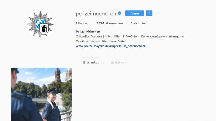 Kritik zum Instagram-Start der bayerischen Polizei