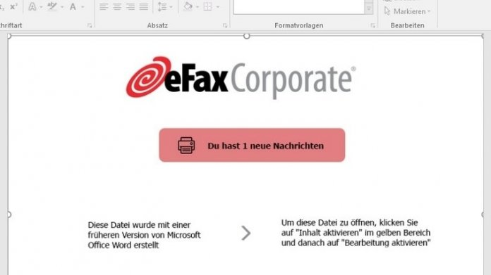 Achtung: Angebliches eFax birgt Trojaner