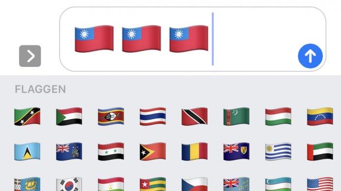 Emoji Taiwan Flagge