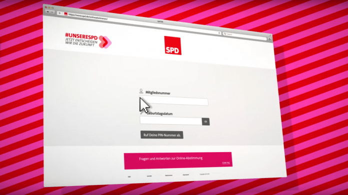 Onlineabstimmung der SPD zum neuen Parteivorsitz