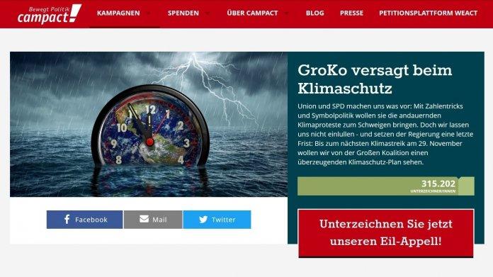Petitionsportal Campact verliert Gemeinnützigkeit