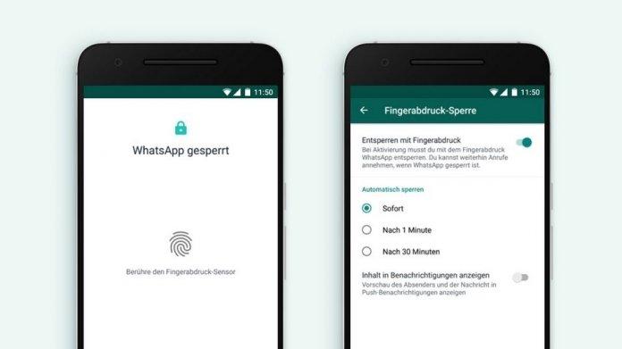 WhatsApp lässt sich auf Android mit Fingerabdruck absichern