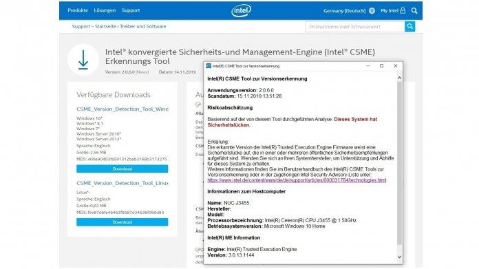 """Schwachstelle """"TPM-Fail"""": Erste BIOS-Updates und Testsoftware von Intel"""