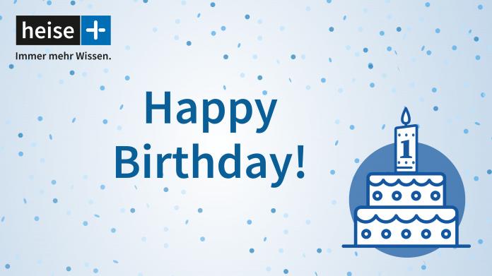 1 Jahr heise+ – feiern Sie mit uns!