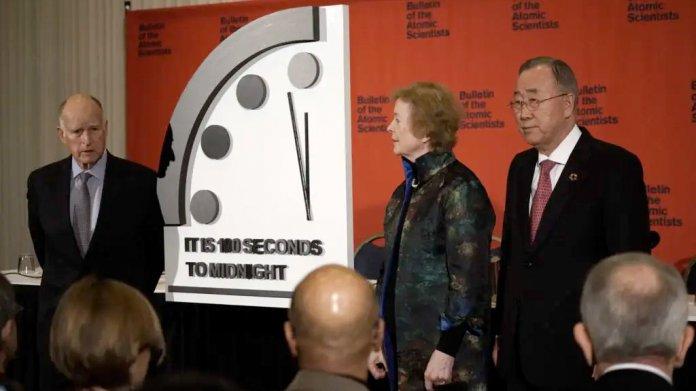 Doomsday Clock: Nur noch 100 Sekunden vor dem Weltuntergang