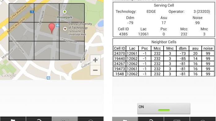 Screenshots der Anroid-App