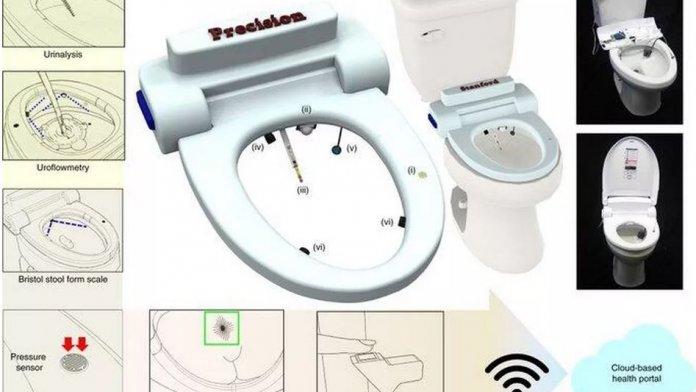 Smarte Toilette mit Anus-Erkennung und Fäkalienanalyse