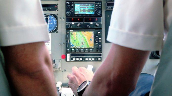 GPS in einem Flugzeugcockpit