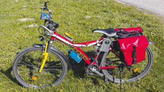 E-Bike mit Akkuschrauberantrieb