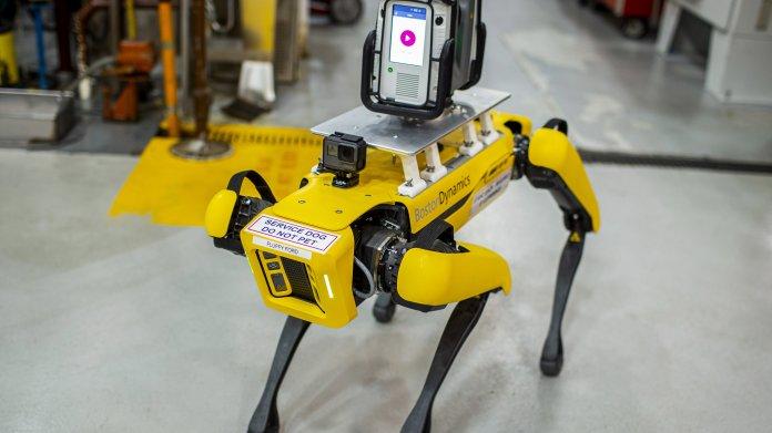 Roboterhunde Fluffy und Spot scannen Ford-Werk