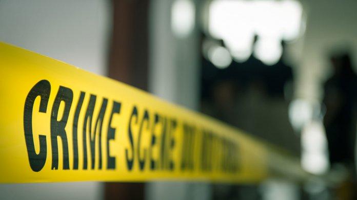 """Gelbes Band mit Aufschrift """"Crime Scene"""""""