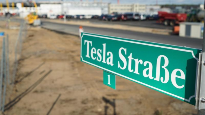 Tesla-Fabrik entsteht in Grünheide