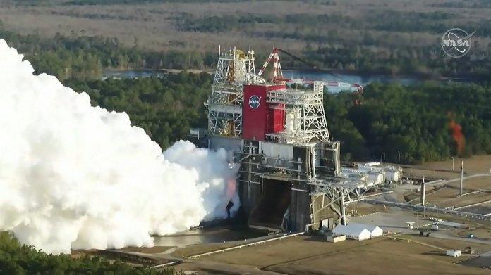 Luftaufnahme des NASA-Tests