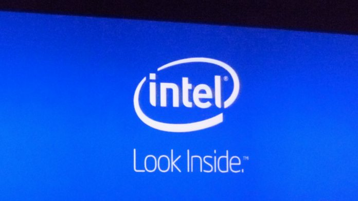 "Intel-Logo mit Slogan ""Look inside"""