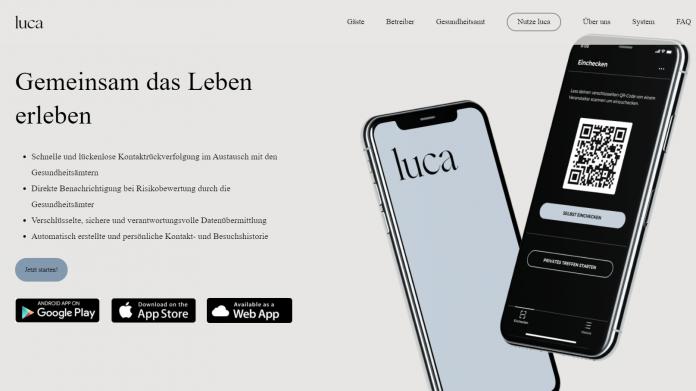 Luca-App Homepage