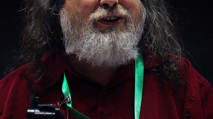 Richard Stallmann auf einer Konferenz