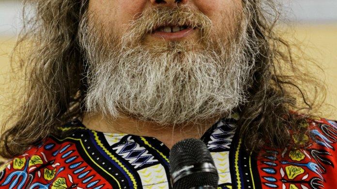 Richard Stallman am Mikrofon