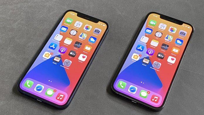 iPhone 12 neben iPhone 12 Pro