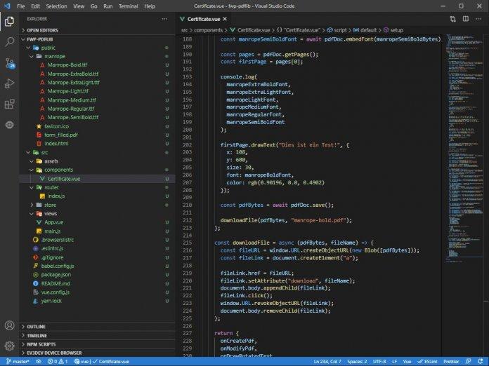 Screenshot der aktuellen VS-Code-Versionen (Abb. 1)