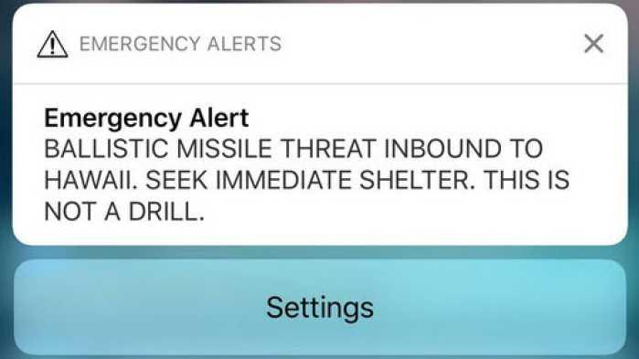 Fehlalarm warnt Hawaii-Bewohner per Handy vor Raketenangriff