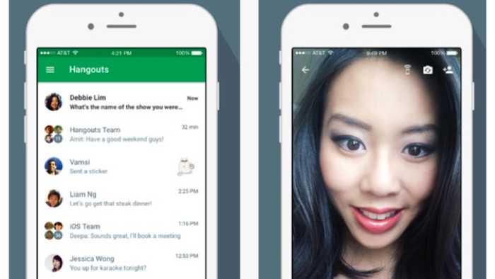 Google Hangouts mit neuen iOS-9-Funktionen
