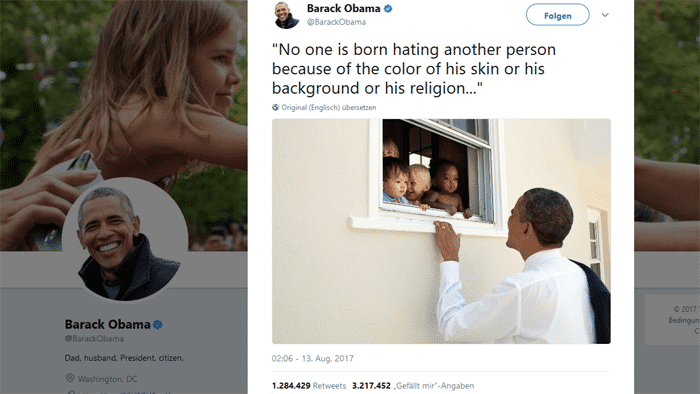 Twitter-Rekord: Obama verfasst meistgelikten Tweet aller Zeiten
