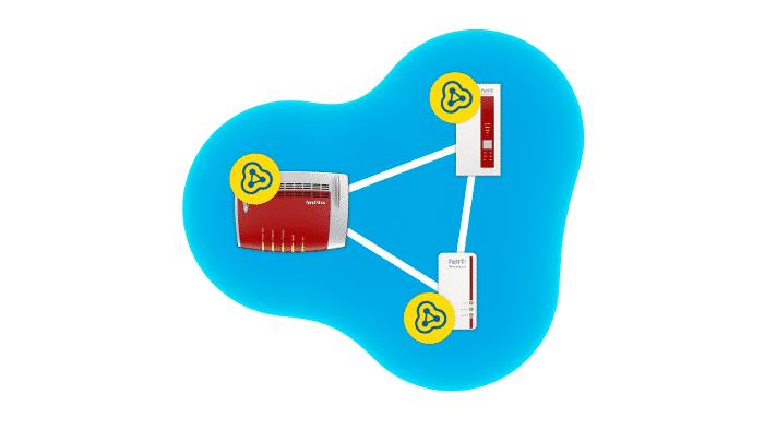 Mesh-OS-Update für zwei Fritzboxen