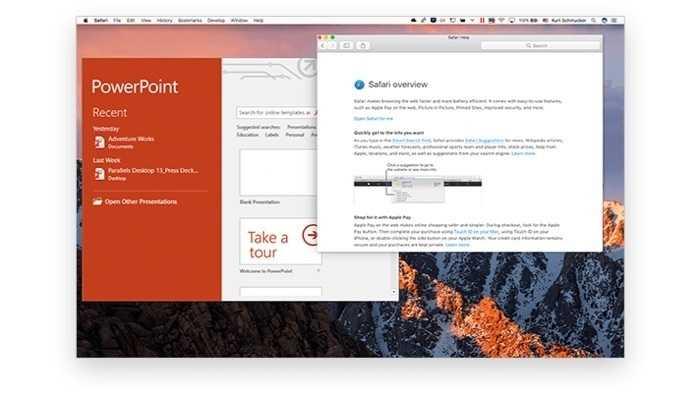 Parallels Desktop bereit für High Sierra
