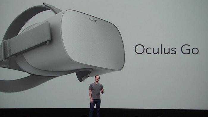 Mark Zuckerberg bei der Präsentation der Oculus Go.