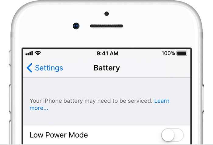 iOS kann bereits auf einen sehr alten Akku hinweisen, die mögliche CPU-Drosselung wird aber nirgends erwähnt.