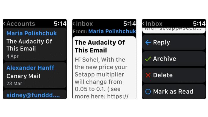 E-Mail-Client für die Apple Watch mit LTE