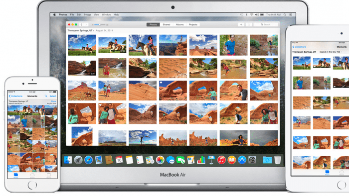 Die hauseigene App Fotos brachte Apple von iOS auf den Mac.