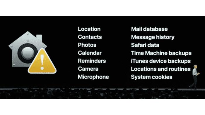 "macOS Mojave: ""Data Permissions"" sollen sensible Infos schützen"