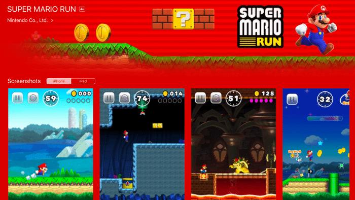"""Nintendos """"Super Mario Run"""": 75 Prozent der Einnahmen kommen von iOS"""