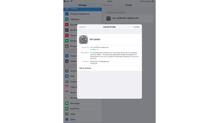 Angriff auf iOS-Geräte über böse MDM-Profile
