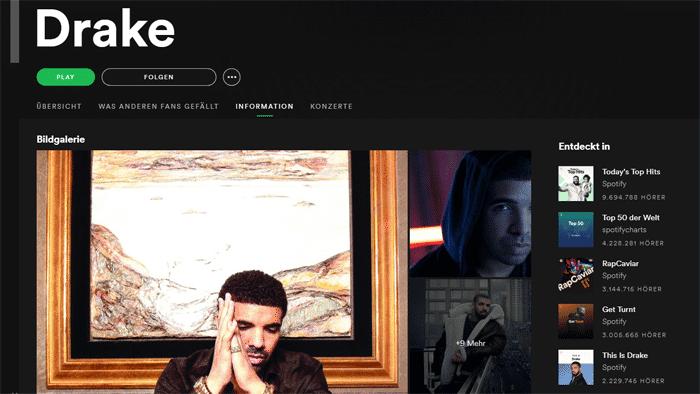Drake schafft als erster Künstler 50 Milliarden Streams weltweit