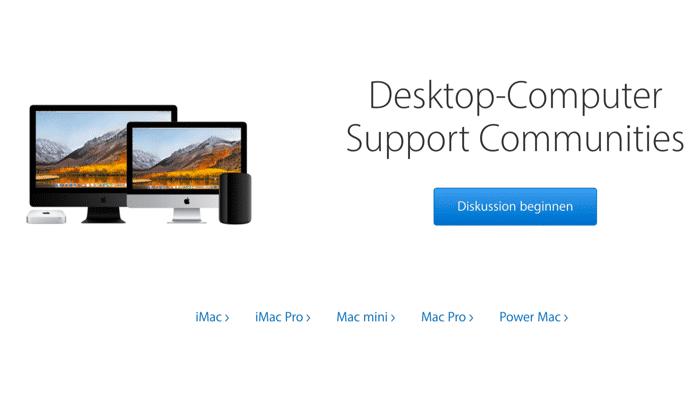 Apple-Supportforum: Hilfe auch in deutscher Sprache