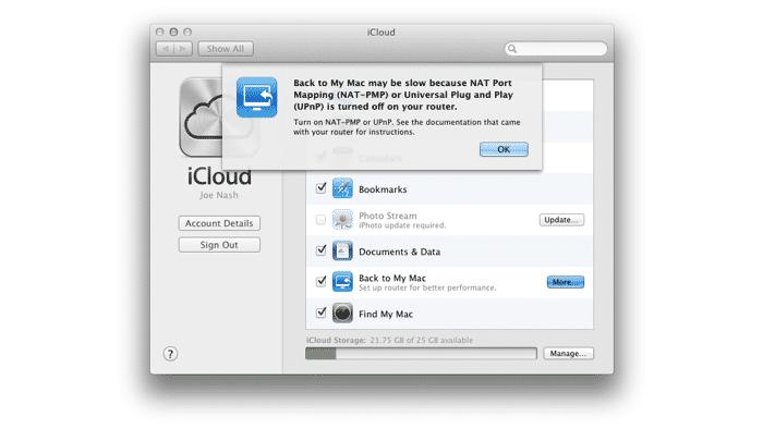 """iCloud: Kein """"Zurück zu meinem Mac"""" mehr"""