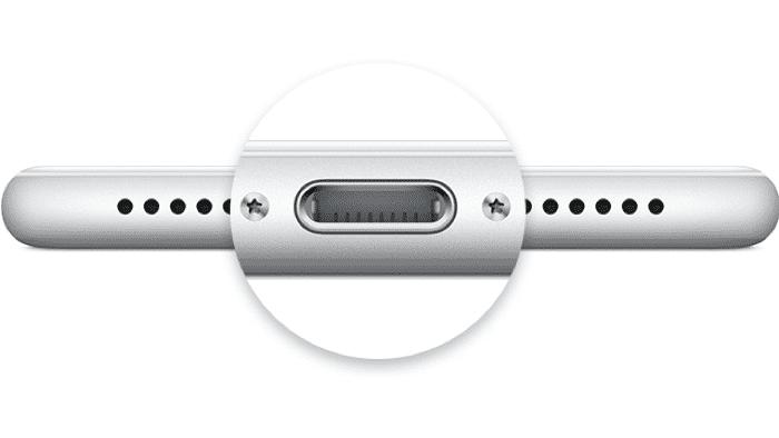 Lightning-Anschluss am iPhone
