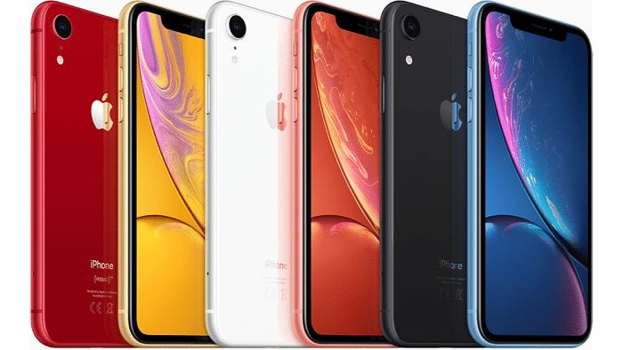 Beim iPhone XR stehen sechs Farben zur Auswahl: Neben Schwarz und Weiß auch Rot, Gelb, Blau und Koralle.