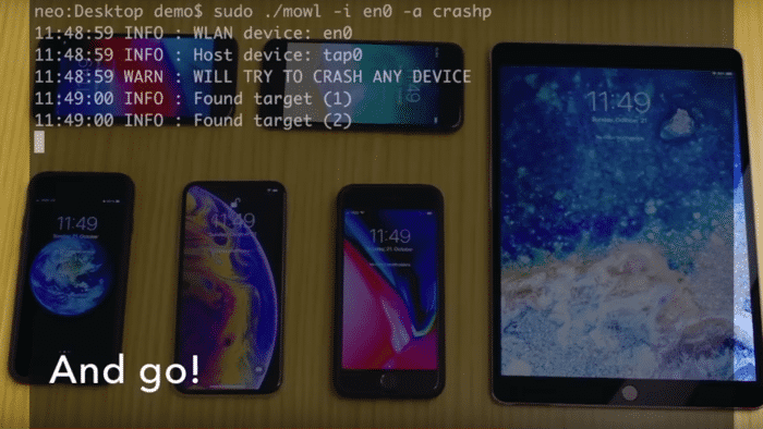 iOS, macOS, watchOS und tvOS per Funk abschießbar